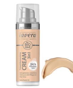 натурален хидратиращ оцветяващ крем за лице Lavera