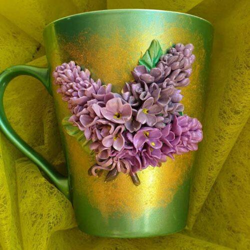 чаша с полимерна глина персонализиран подарък