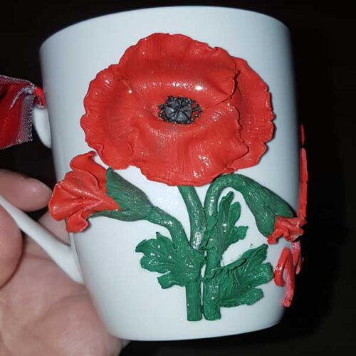 чаша с полимерна глина
