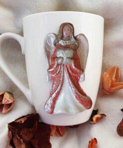 чаша с ръчна декорация Ангел