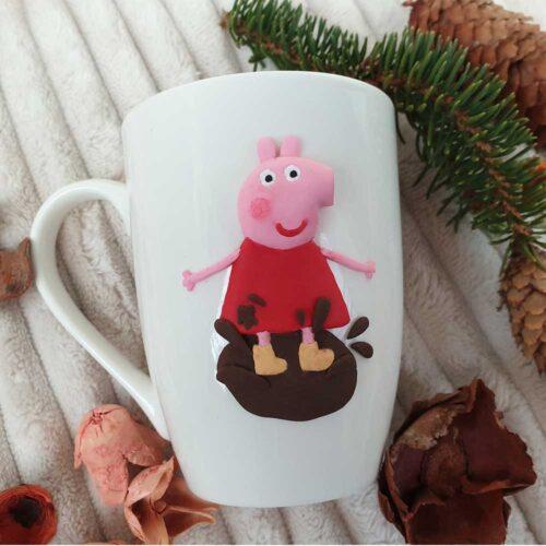 чаша с полимерна глина пепа пиг